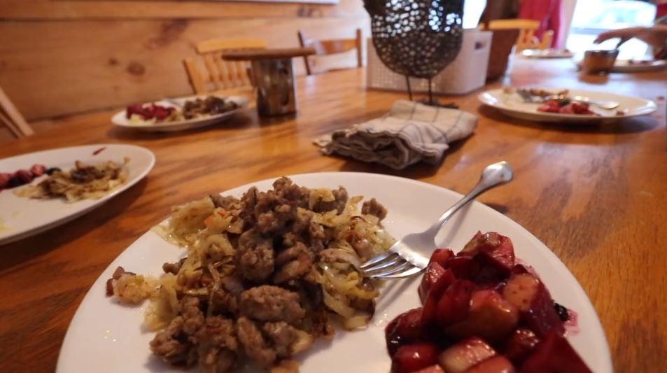 Sausage and Bacon Fruit Salad