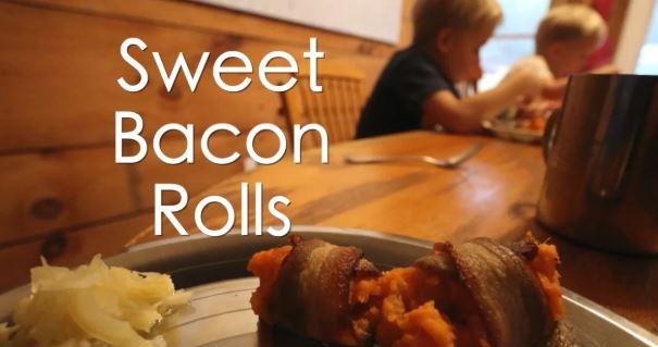 Sweet Bacon Rolls